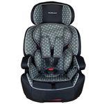 XL-518-Grau Auto Kindersitz / Sitzerhöhung (Schwarz/Grau) für Kinder von 9 - 36 kg (Klasse I, II, III) mit ISOFIX 001