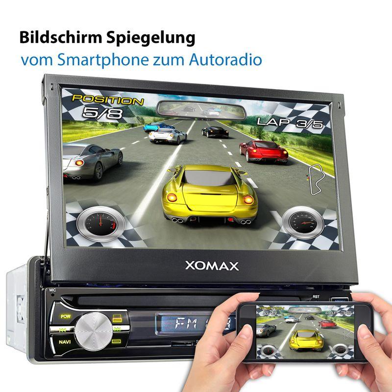 XOMAX XM-VA714: 1DIN Autoradio mit Android 8.0 Navi 7 Zoll Touchscreen Monitor, Bluetooth, SD und USB – Bild 7