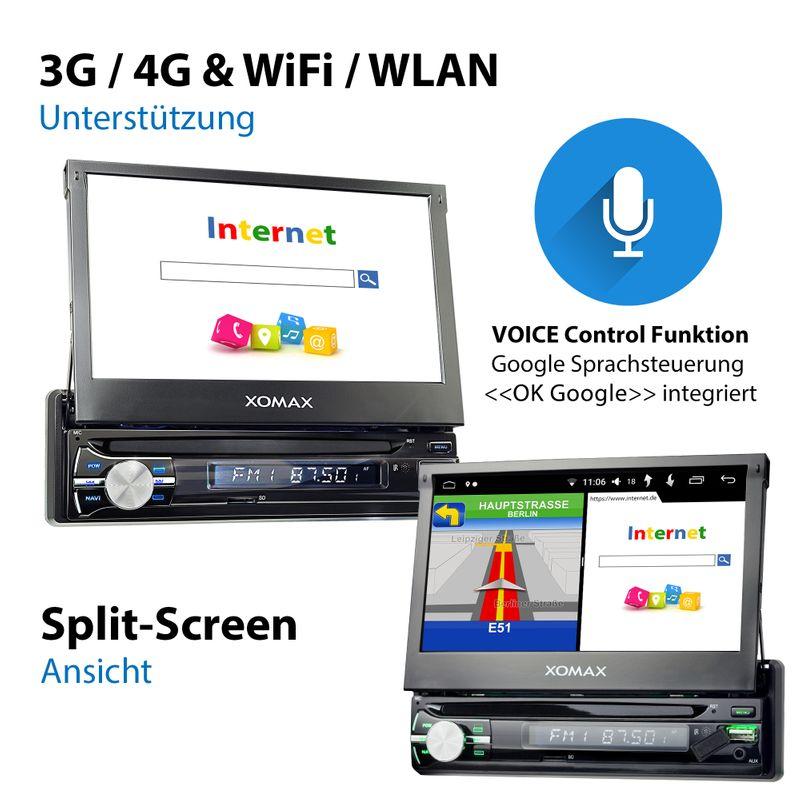 XOMAX XM-VA714: 1DIN Autoradio mit Android 8.0 Navi 7 Zoll Touchscreen Monitor, Bluetooth, SD und USB – Bild 10
