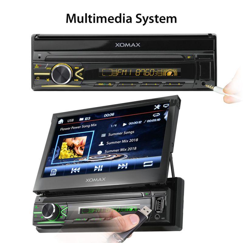 XOMAX XM-VN745 1DIN Navi Autoradio mit GPS, USB und BLUETOOTH – Bild 4
