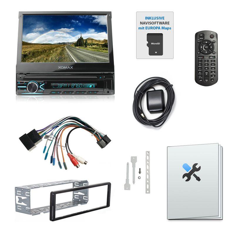 XOMAX XM-VN745 1DIN Navi Autoradio mit GPS, USB und BLUETOOTH – Bild 7