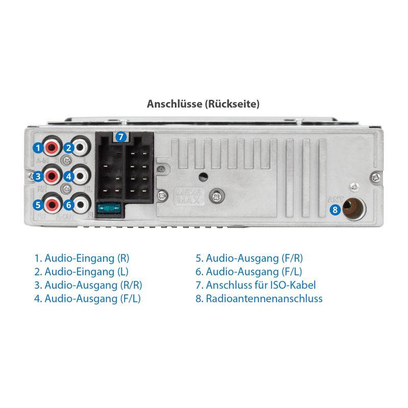 XOMAX XM-CDB623 CD Autoradio mit USB, SD-Slot und AUX-IN – Bild 6