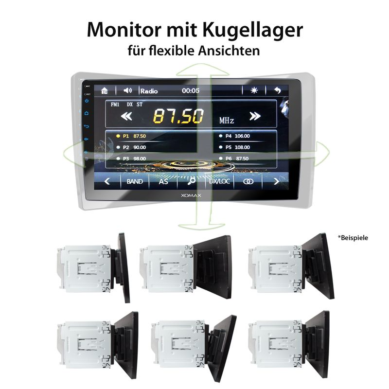 XOMAX XM-2VN1003 2DIN Navi Autoradio mit GPS, USB und BLUETOOTH – Bild 12