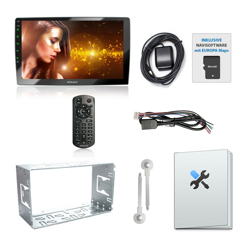 XOMAX XM-2VN1003 2DIN Navi Autoradio mit GPS, USB und BLUETOOTH – Bild 10