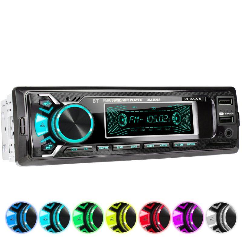 XOMAX XM-R266: 1DIN, Autoradio mit Bluettoth, USB, AUX IN, ohne Laufwerk