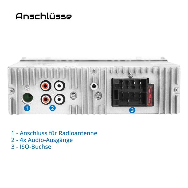 XOMAX XM-R266: 1DIN, Autoradio mit Bluettoth, USB, AUX IN, ohne Laufwerk – Bild 7