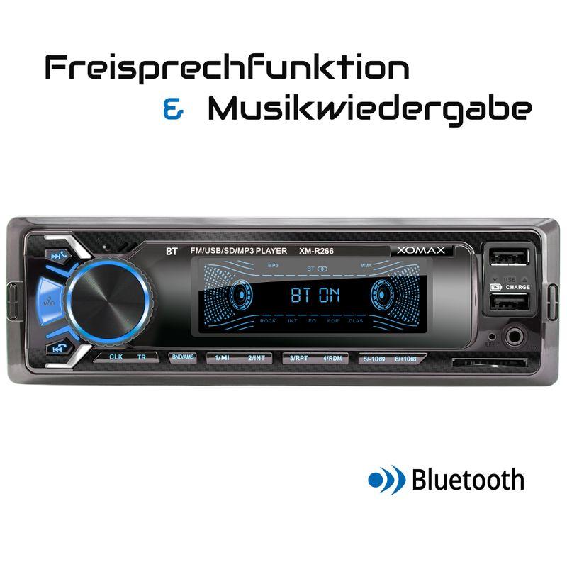 XOMAX XM-R266: 1DIN, Autoradio mit Bluettoth, USB, AUX IN, ohne Laufwerk (B-Ware) – Bild 4