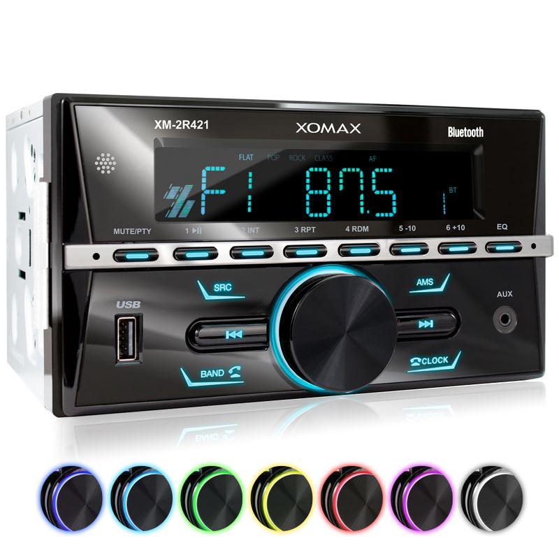 XOMAX XM-2R421 Autoradio mit Bluetooth, USB und AUX-IN – Bild 1
