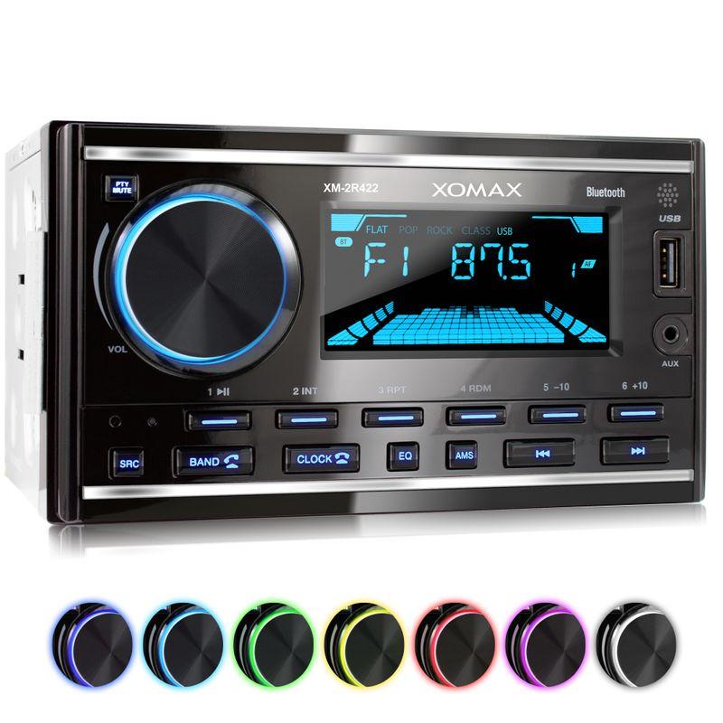 XOMAX XM-2R422 Autoradio mit Bluetooth, USB und AUX-IN (B-Ware) – Bild 1