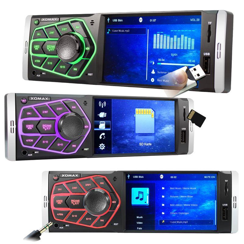 XOMAX XM-V418 Moniceiver Autoradio ohne CD-Laufwerk mit BLUETOOTH ( B-Ware) – Bild 3