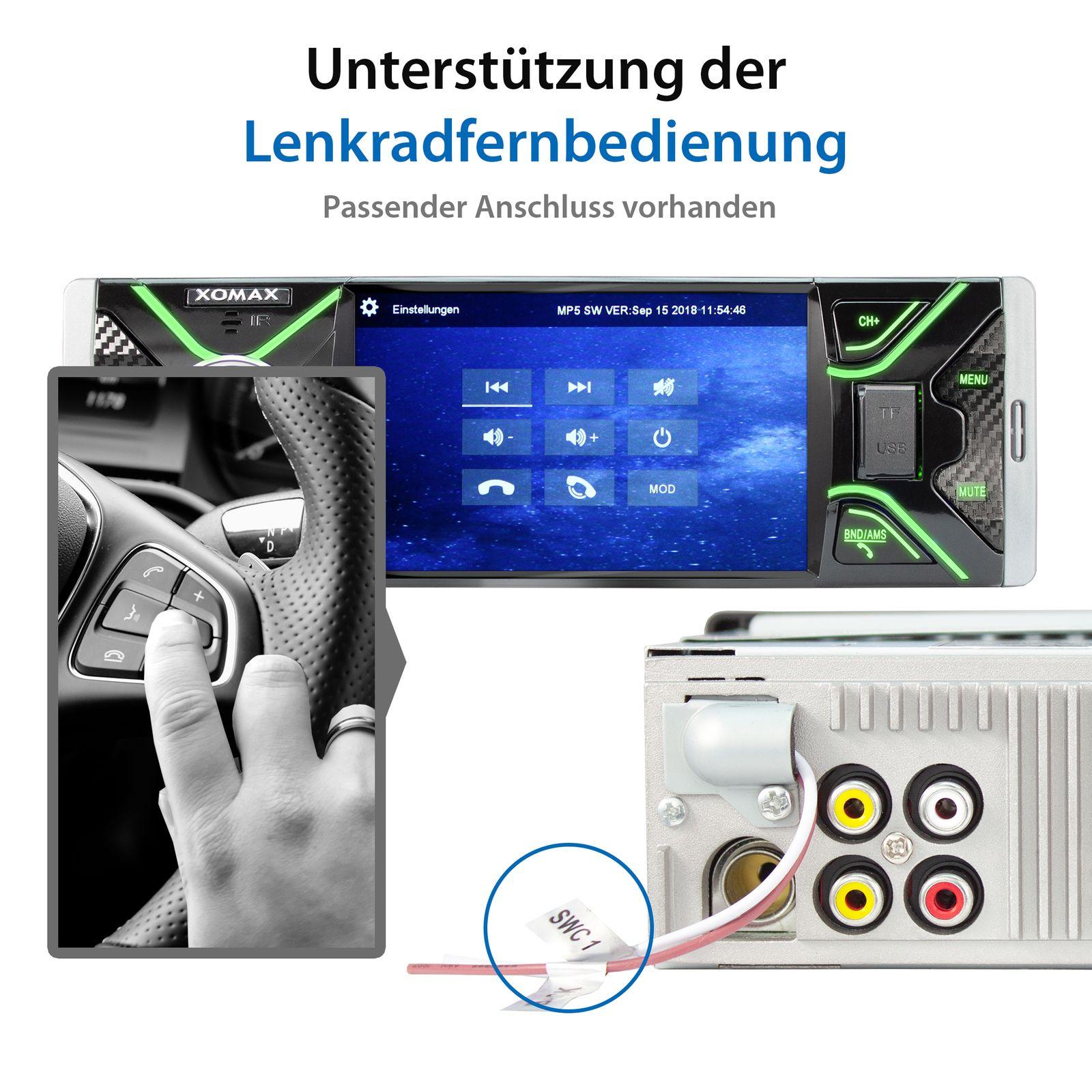 xomax xm v417 moniceiver autoradio ohne cd laufwerk mit. Black Bedroom Furniture Sets. Home Design Ideas