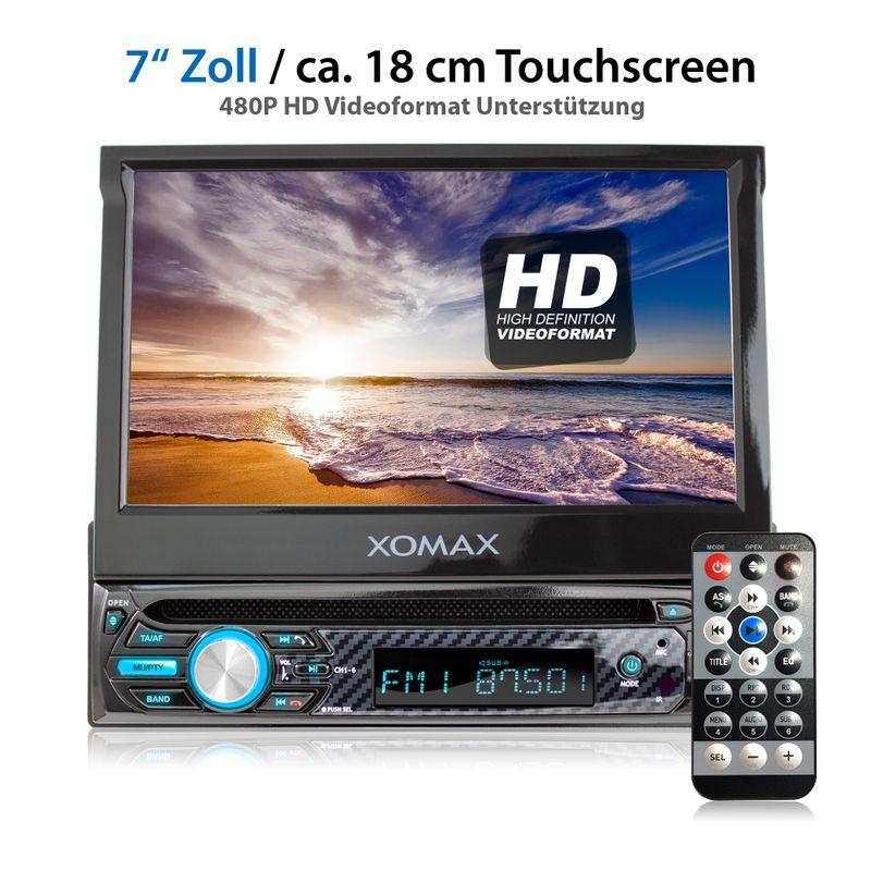 "XOMAX XM-D750 18cm/7"" DVD-Moniceiver USB SD BLUETOOTH – Bild 2"