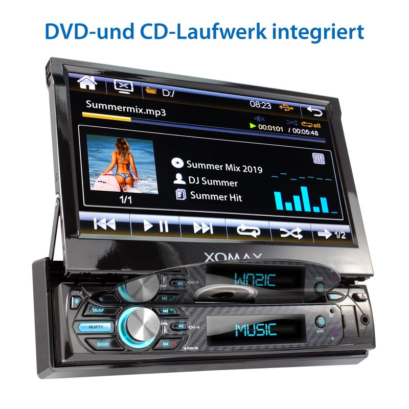 "XOMAX XM-D750 18cm/7"" DVD-Moniceiver USB SD BLUETOOTH – Bild 3"