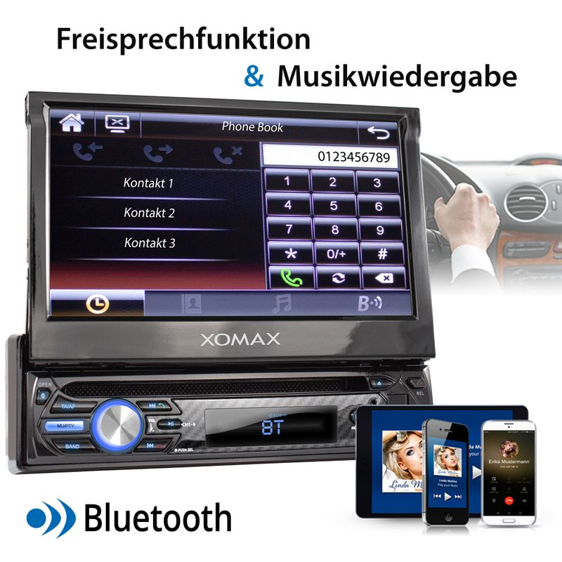 "XOMAX XM-D750 18cm/7"" DVD-Moniceiver USB SD BLUETOOTH – Bild 4"