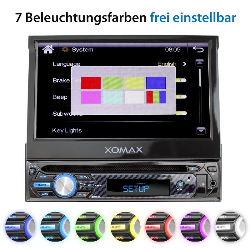 "XOMAX XM-D750 18cm/7"" DVD-Moniceiver USB SD BLUETOOTH – Bild 6"