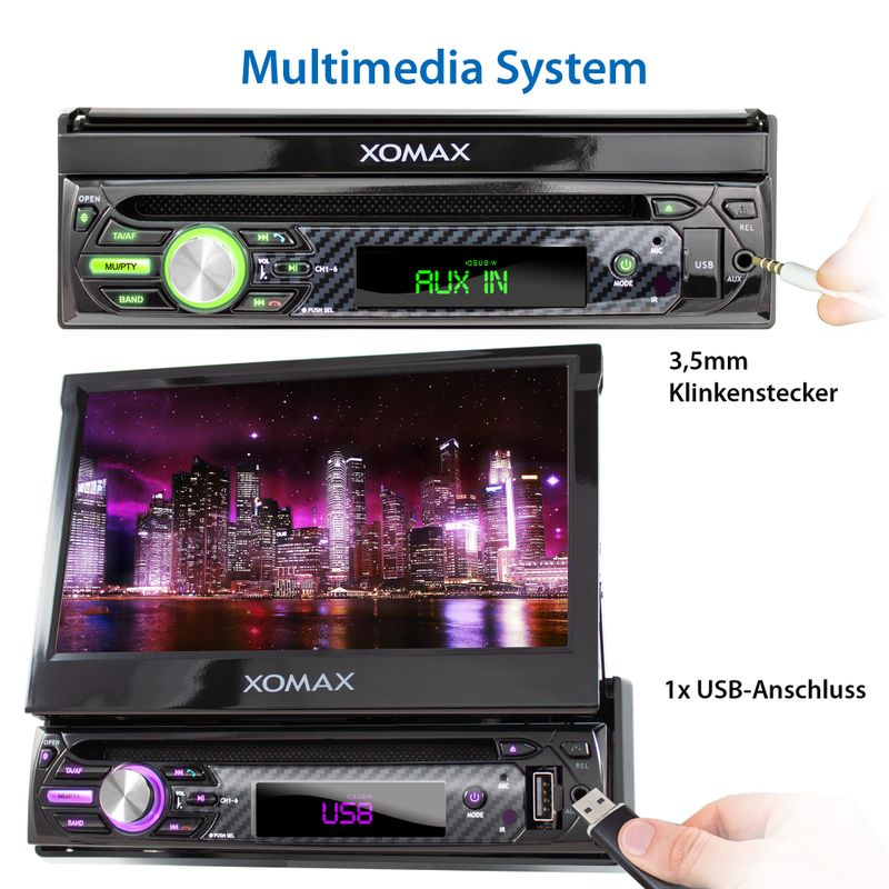 "XOMAX XM-D750 18cm/7"" DVD-Moniceiver USB SD BLUETOOTH – Bild 7"