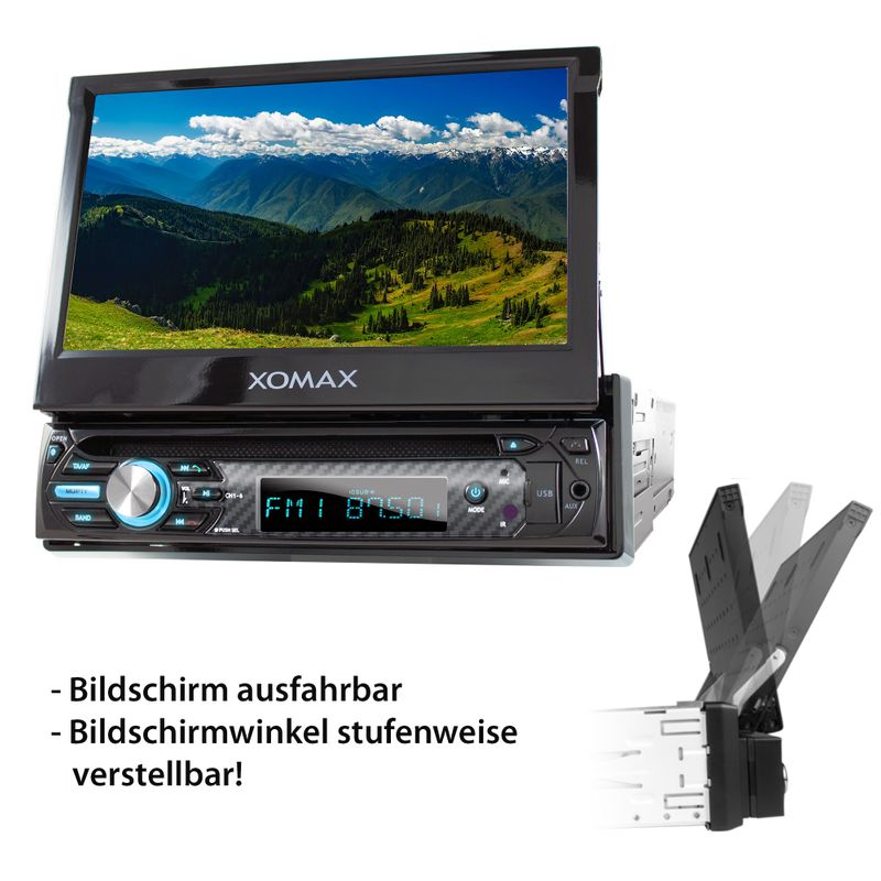 "XOMAX XM-D750 18cm/7"" DVD-Moniceiver USB SD BLUETOOTH – Bild 11"