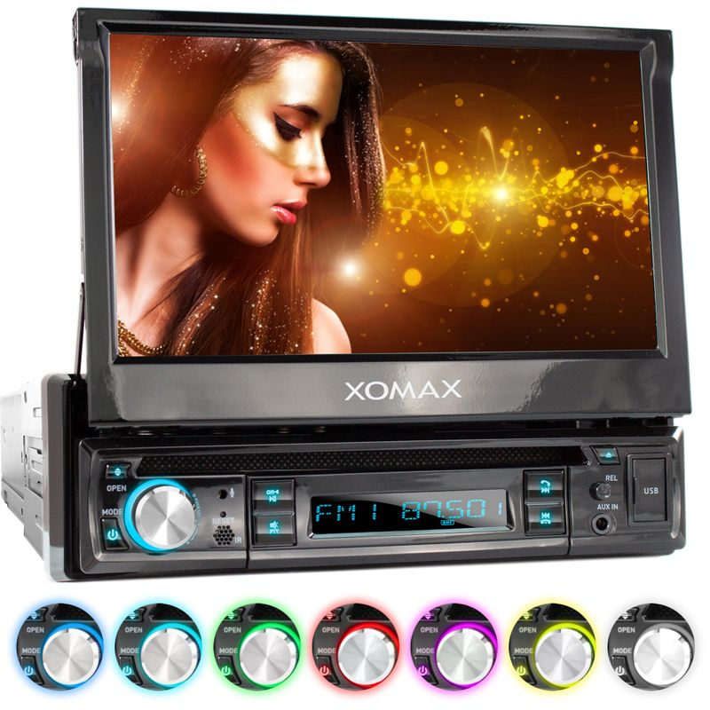 "XOMAX XM-D749 18cm/7"" DVD-Moniceiver USB SD BLUETOOTH"
