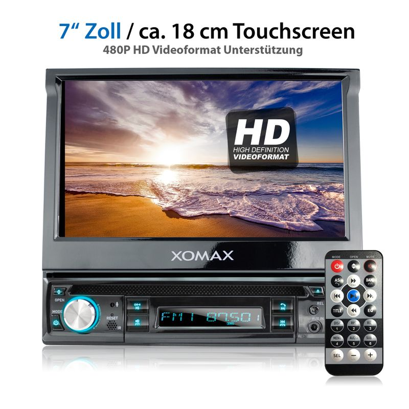 "XOMAX XM-D749 18cm/7"" DVD-Moniceiver USB SD BLUETOOTH – Bild 2"