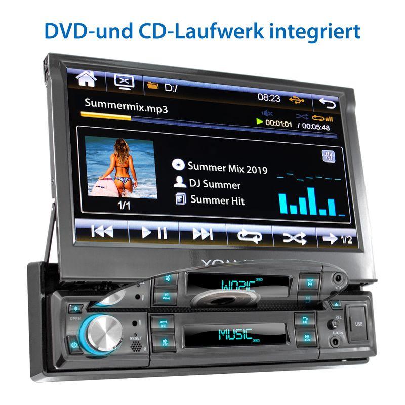 "XOMAX XM-D749 18cm/7"" DVD-Moniceiver USB SD BLUETOOTH – Bild 3"