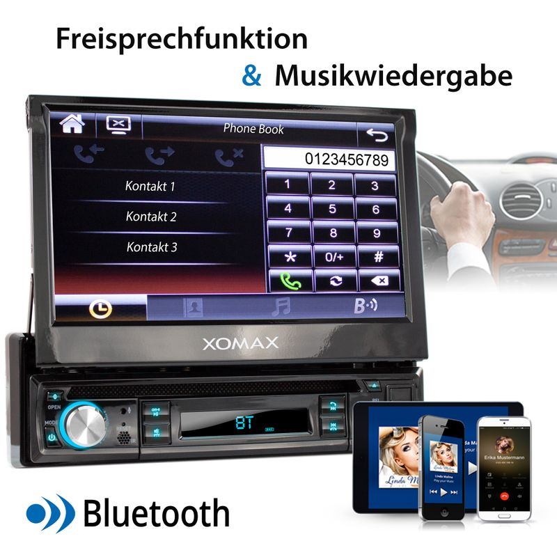 "XOMAX XM-D749 18cm/7"" DVD-Moniceiver USB SD BLUETOOTH – Bild 4"