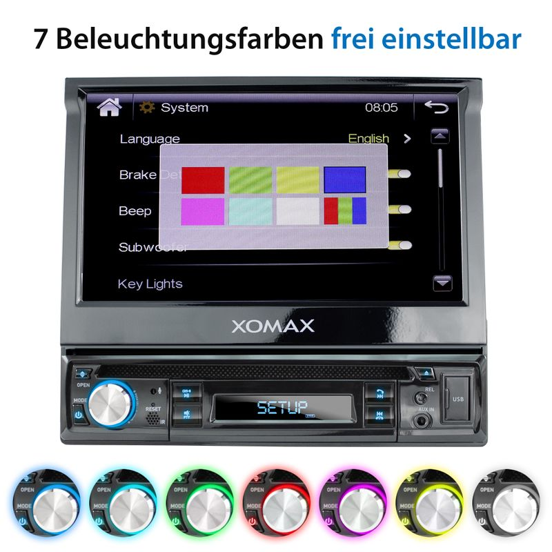 "XOMAX XM-D749 18cm/7"" DVD-Moniceiver USB SD BLUETOOTH – Bild 6"