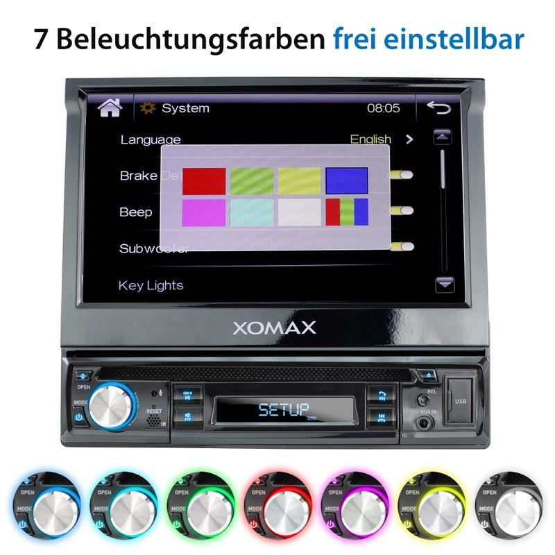 "XOMAX XM-D749 18cm/7"" DVD-Moniceiver USB SD BLUETOOTH – Bild 6"