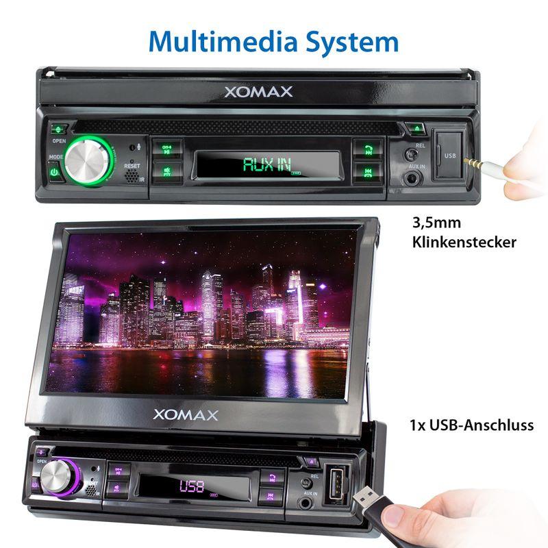 "XOMAX XM-D749 18cm/7"" DVD-Moniceiver USB SD BLUETOOTH – Bild 7"