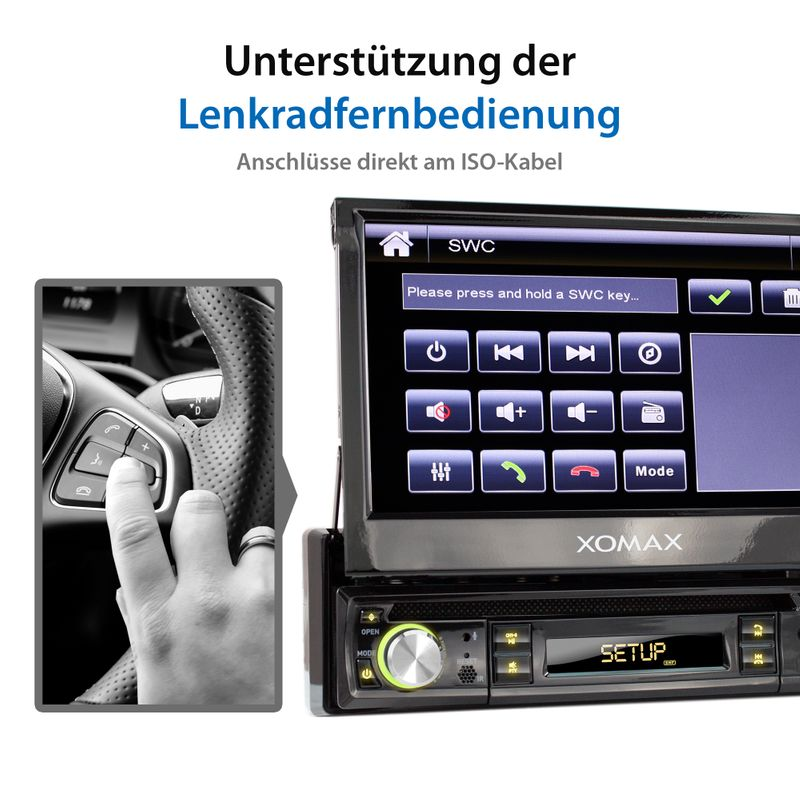 "XOMAX XM-D749 18cm/7"" DVD-Moniceiver USB SD BLUETOOTH – Bild 8"
