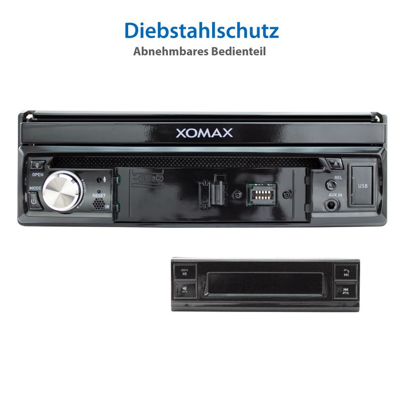 "XOMAX XM-D749 18cm/7"" DVD-Moniceiver USB SD BLUETOOTH – Bild 12"
