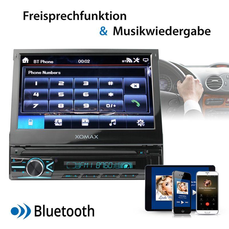 XOMAX XM-V746 1DIN Autoradio mit SD, USB und BLUETOOTH – Bild 12