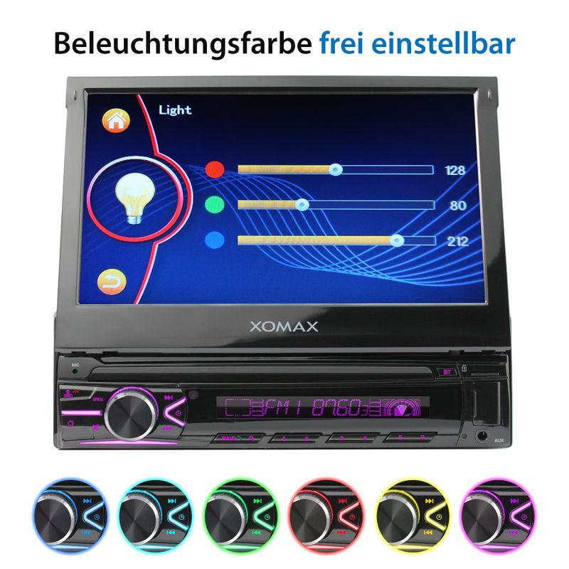 XOMAX XM-V746 1DIN Autoradio mit SD, USB und BLUETOOTH (B-Ware) – Bild 9