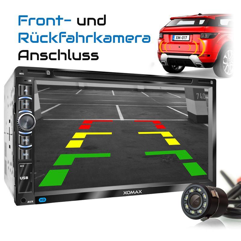 "XOMAX XM-2DN6906 L2 2DIN Autoradio mit 6,95"" kapazitivem Touchscreen Monitor, DVD-Laufwerk, Micro SD und USB (B-Ware) – Bild 5"
