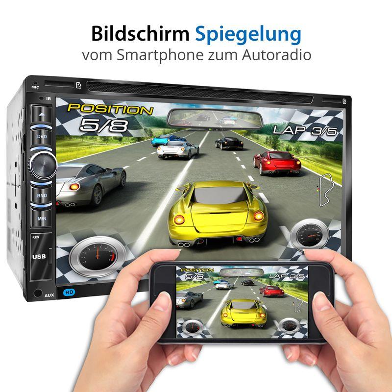 "XOMAX XM-2DN6906 L2 2DIN Autoradio mit 6,95"" kapazitivem Touchscreen Monitor, DVD-Laufwerk, Micro SD und USB (B-Ware) – Bild 12"