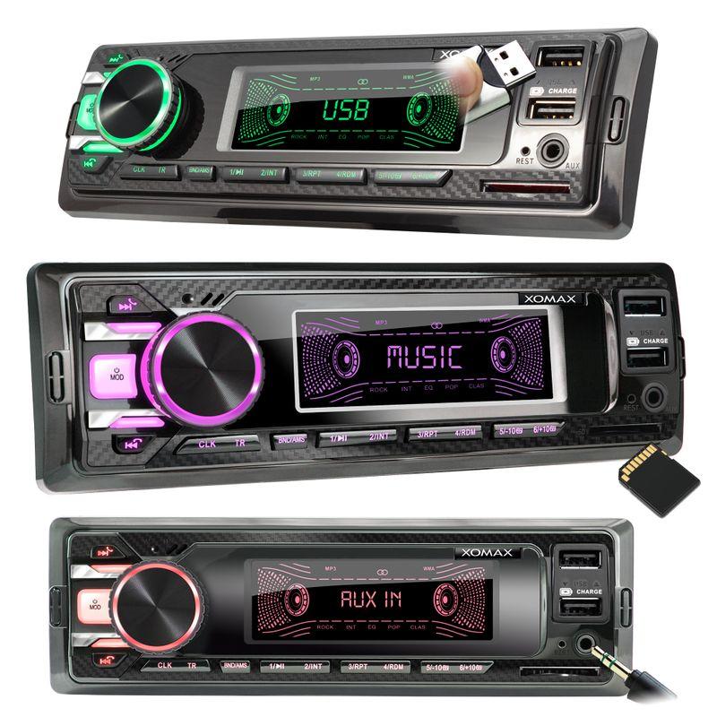 XOMAX XM-RD269: 1DIN, Autoradio mit DAB+, Bluetooth, USB, AUX IN, ohne Laufwerk – Bild 4