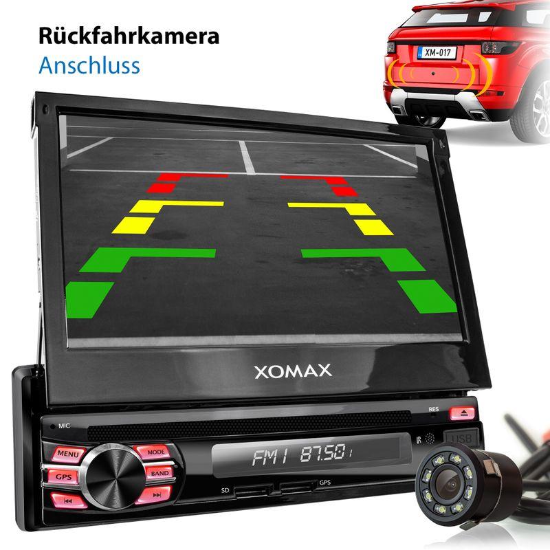 XOMAX XM-DA708: 1DIN Autoradio mit Android 8.1 Navi 7 Zoll Touchscreen Monitor, Bluetooth, DVD, CD, SD und USB – Bild 4