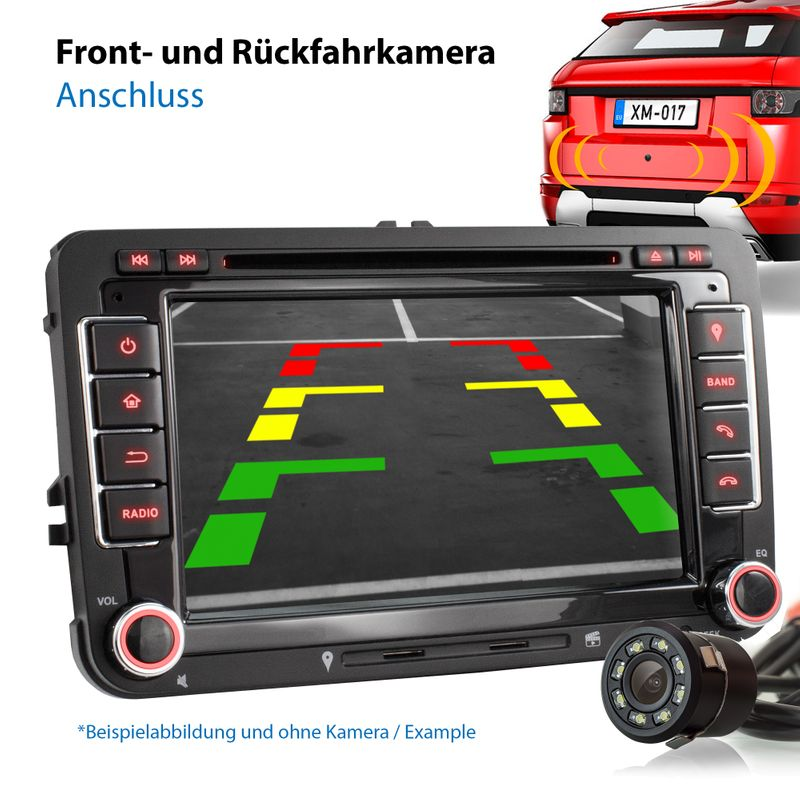 XOMAX XM-10GA: 2DIN Autoradio mit Android 8.1 Navi 7 Zoll Touchscreen Monitor, Bluetooth, DVD, CD, SD und USB (passend für VW/SKODA/SEAT)  – Bild 4