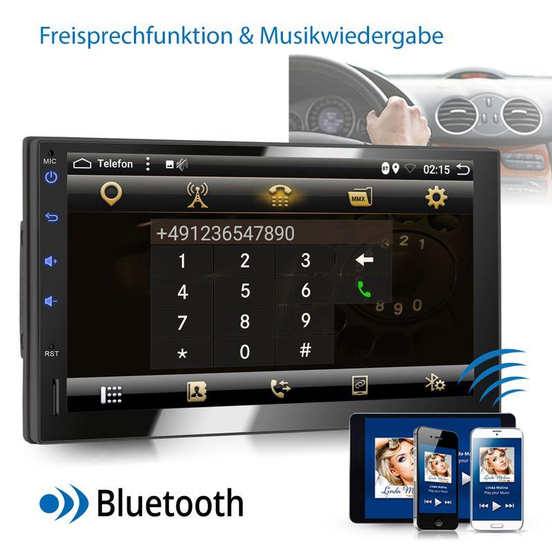 XOMAX XM-2VA754: 2DIN Autoradio mit Android 8.1 Navi 7 Zoll Touchscreen Monitor, Bluetooth, SD und USB – Bild 6