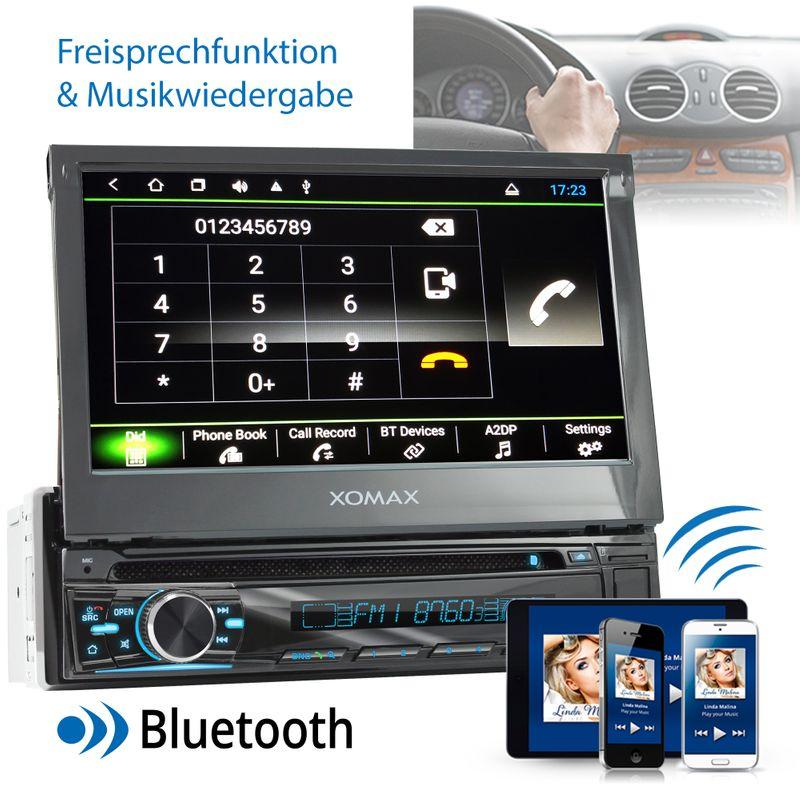 XOMAX XM-DA755: 1DIN Autoradio mit Android 8.1 Navi 7 Zoll Touchscreen Monitor, Bluetooth, DVD, CD, SD und USB  – Bild 6