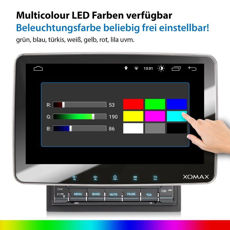 XOMAX XM-2VA1007: 2DIN Autoradio mit Android 9 Navi 10,1 Zoll Touchscreen Monitor, Bluetooth, SD und USB  – Bild 7