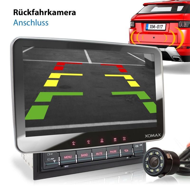 XOMAX XM-2DA1008: 2DIN Autoradio mit Android 9 Navi 10,1 Zoll Touchscreen Monitor, Bluetooth, DVD, CD, SD und USB  – Bild 4