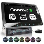 XOMAX XM-2DA1008: 2DIN Autoradio mit Android 9 Navi 10,1 Zoll Touchscreen Monitor, Bluetooth, DVD, CD, SD und USB  001