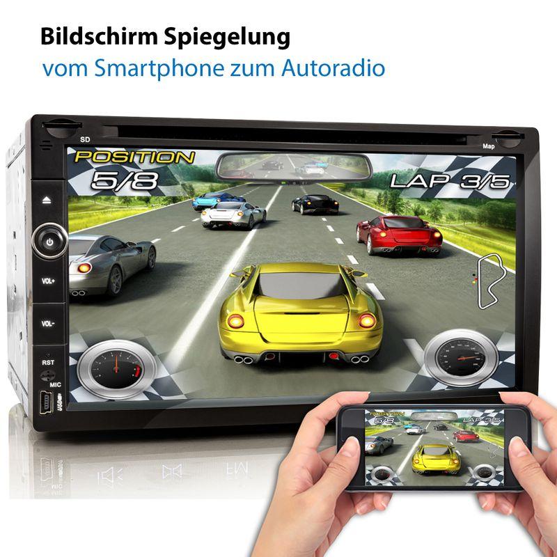 XOMAX XM-2DA758: 2DIN Autoradio mit Android 10 Navi 6,9 Zoll Touchscreen Monitor, Bluetooth, SD und USB   – Bild 5