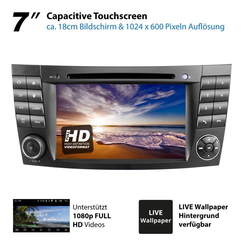 XOMAX XM-08ZA: 2DIN Autoradio mit Android 8.1 Navi 7 Zoll Touchscreen Monitor, Bluetooth, DVD, CD, SD und USB (passend für Mercedes)  – Bild 12