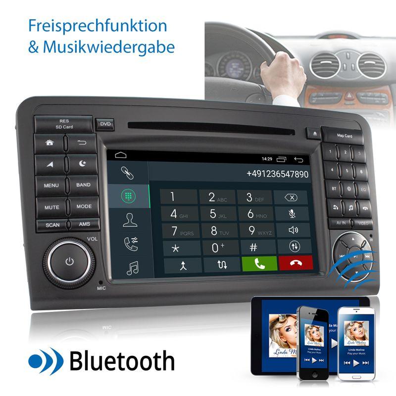 XOMAX XM-09ZA: 2DIN Autoradio mit Android 9 Navi 7 Zoll Touchscreen Monitor, Bluetooth, DVD, CD, SD und USB (passend für Mercedes W164)   – Bild 6