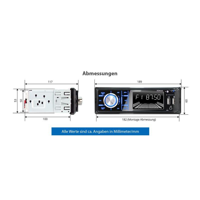 XOMAX XM-RD273: 1DIN, Autoradio mit DAB+, Bluettoth, FlashXO, USB, AUX IN, ohne Laufwerk – Bild 11