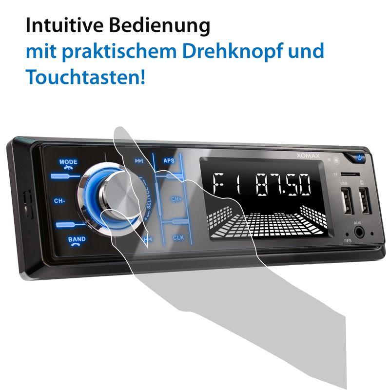 XOMAX XM-RD273: 1DIN, Autoradio mit DAB+, Bluettoth, FlashXO, USB, AUX IN, ohne Laufwerk – Bild 8