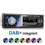 XOMAX XM-RD273: 1DIN, Autoradio mit DAB+, Bluettoth, FlashXO, USB, AUX IN, ohne Laufwerk 001