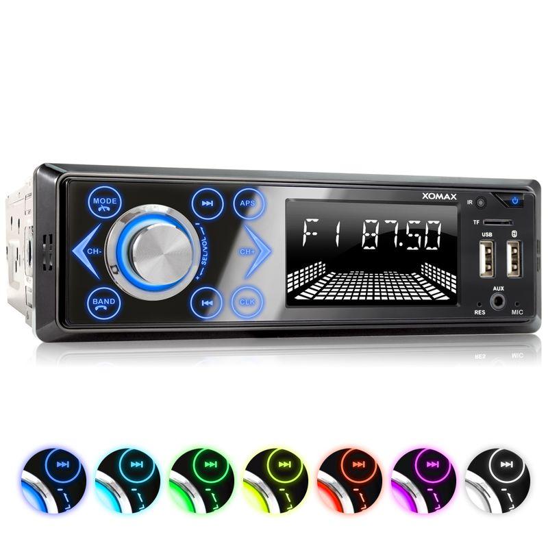 XOMAX XM-R272: 1DIN, Autoradio mit Bluettoth, FlashXO, USB, AUX IN, ohne Laufwerk – Bild 1