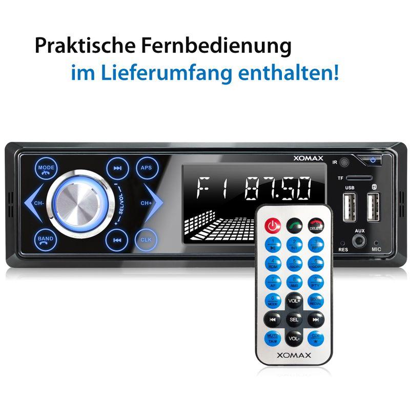 XOMAX XM-R272: 1DIN, Autoradio mit Bluettoth, FlashXO, USB, AUX IN, ohne Laufwerk – Bild 12